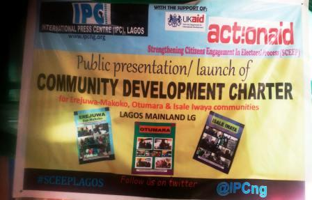 IPC launches development charters for three Lagos communities